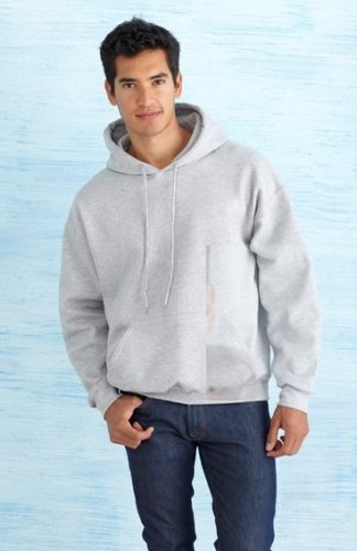 Pulover s kapuco z unikatnim potiskom